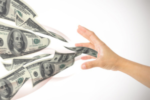 gather money in hand