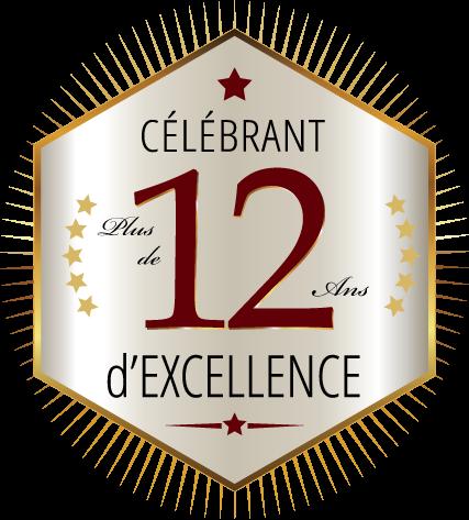 célébrant plus de 12 ans d'excellence