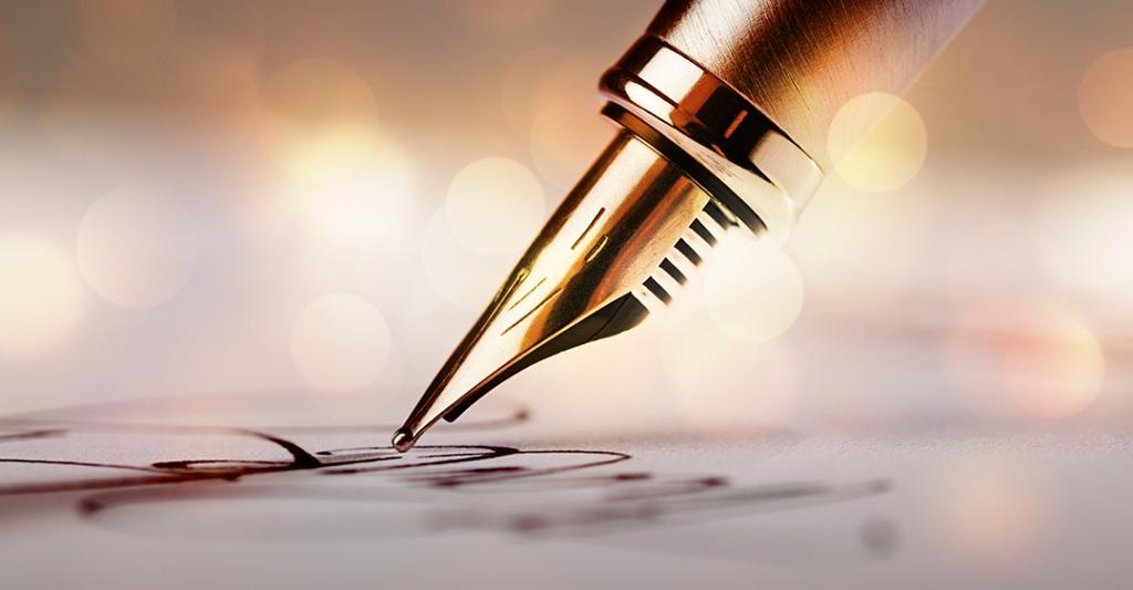 Plume sur l'écriture sur papier, contrats, Force exécutoire des contrats pendant le corona virus