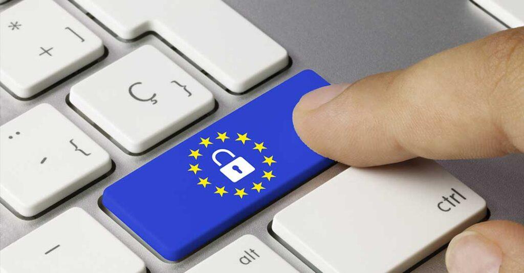 clavier, drapeau européen, cadena, protection des données, protection vie privée,  CCPA: effets sur les sociétés de Floride